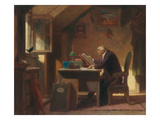 A Visit, about 1850 Posters by Carl Spitzweg