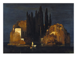 The Isle of the Dead (First Version), 1880 Julisteet tekijänä Arnold Bocklin