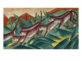 Monkey Frieze, 1911 Giclee Print by Franz Marc