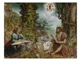 Die Hll.Johannes Evangelist Und Johannes D.Taeufer Posters by Albrecht Altdorfer