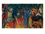 Zoological Garden I., 1912 Art by Auguste Macke