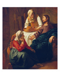 Christ in the Home of Martha and Mary, about 1654 Art by Jan Vermeer