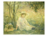 Junges Maedchen Unter Orangenbaeumen, 1889 Print by Berthe Morisot