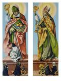 Die Hll.Nikolaus Von Bari Und Ludwig Von Toulouse Prints by Hans Baldung Grien