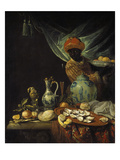 Still-Life with Moor and China. Probably About 1680 Giclee Print by Jurian van Streek
