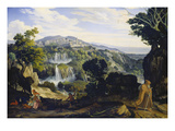 The Waterfalls of Tivoli, 1817 Giclee Print by Carl Philipp Fohr