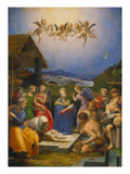 Adoration of the Shepherds, 1530 Prints by Agnolo Bronzino