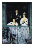 The Balcony. Berthe Morisot, Fanny Claus and Antoine Guillemet, 1868/69 Giclee Print by Édouard Manet