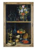 Regal Mit Blumenvase Und Fruechten Giclee Print by Georg Flegel