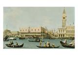 Venedig, Dogenpalast Und Marcusplatz Vom Bacino Di San Marco Giclee Print by  Canaletto