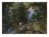 Belebte Waldstrasse, 1605 Giclee Print by Jan Brueghel the Elder