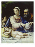 Virgin of the Veil, about 1520 Giclée-tryk af Sebastiano del Piombo