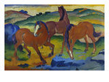 Red Horses (Grazing Horses Iv.), 1911 Reproduction procédé giclée par Franz Marc