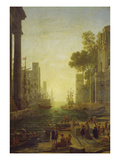 Embarkation of St. Paula Romana at Ostia, 1639/40 Giclee Print by Claude Lorrain