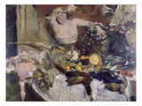 Large Still-Life with Person, Birthday Picture, 1911 Giclee Print by Lovis Corinth