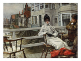 Waiting for the Boat at Greenwich Print by James Tissot