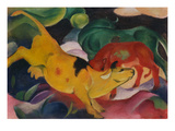 Cows Yellow-Red-Green, 1912 Reproduction procédé giclée par Franz Marc