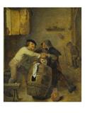 Schlaegerei Zwischen Zwei Bauern Giclee Print by Adriaen Brouwer