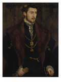 Duke Albrecht V. of Bavaria (The Noble One), 1528-1579 Giclee Print by Hans Muelich Or Mielich