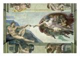 The Sistine Chapel: Creation of Adam, 1510 Giclée-tryk af Michelangelo Buonarroti,