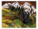 Landschaft Auf Der Staffelalp, 1918 Giclee Print by Ernst Ludwig Kirchner
