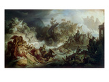 The Naval Battle of Salamis, about 1858 Giclee Print by Wilhelm Von Kaulbach