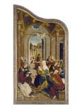 Wettenhausener Altar. Das Pfingstwunder Giclee Print by Martin Schaffner