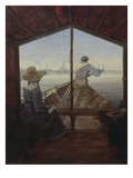 Gondola on the Elbe, 1827 Posters by Carl Gustav Carus