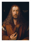 Self Portrait in a Fur-Trimmed Coat, 1500 Giclee Print by Albrecht Dürer