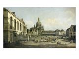 Der Neumarkt Zu Dresden, Vom Juedenhofe Gesehen, 1749 Giclee Print by Bernardo Bellotto