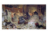 Roman Orgy (Buried in Flowers) Giclee Print by Pavel Alexandrow Swedomski