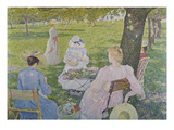 Family in the Orchard, 1890 Giclee Print by Theo van Rysselberghe