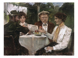 Breakfast in the Garden of Max Halbe, 1899 Prints by Lovis Corinth