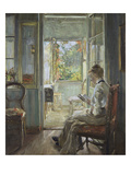 Woman Sitting by a French Window, 1902 Giclee Print by Fritz von Uhde