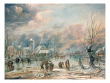 Winter Landscape Giclee Print by Aert van der Neer