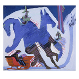 Sleigh Ride, 1927/28 Giclee Print by Ernst Ludwig Kirchner