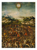 The Battle of Zama (Victory of Publius over Hannibal) Giclee Print by Jorg Breu