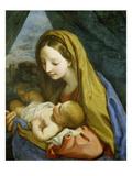 Madonna with Child, about 1660 Giclée-tryk af Carlo Maratti