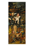 Hieronymus Bosch - The Garden of Earthly Delights. Right Panel of the Triptych: Hell - Giclee Baskı