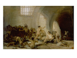 The Madhouse, about 1812/19 Giclee Print by Francisco de Goya