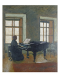 At the Piano, 1910 Giclee Print by Herbert Masaryk
