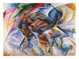Dynamism of a Cyclist, 1913 Giclee-trykk av Umberto Boccioni