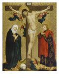 Christ on the Cross with Mary and St. John, about 1450/60 Giclee Print by Middle-Rhenish Master