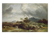 Stormy Evening, about 1860 Giclee Print by Johann Wilhelm Schirmer