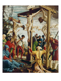Passions/Sebastians-Altar in St.Florian the Crucifixion of Christ Giclee Print by Albrecht Altdorfer