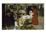 The Raising of Jairus' Daughter, 1886 Giclee Print by Albert Keller