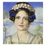 Bildnis Der Tochter Mary Gicleetryck av Franz von Stuck