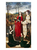 Portinari-Altar. Rechter Fluegel: die Hll.Margarethe Und Maria Magdalena Art by Hugo van der Goes