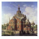 Tycho Brahe's Observatory, Uraniborg Art by Henrik Hansen