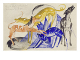 The Four Canine Companions of Prince Jussuf, 1914 Prints by Franz Marc